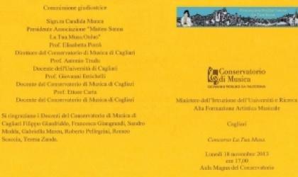 Concorso riservato agli alunni del conservatorio G.P. da Palestrina Cagliari.