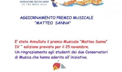"""AGGIORNAMENTO PREMIO MUSICALE """"MATTEO SANNA"""""""
